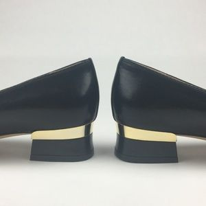 LABELLE ORIGINAL VINTAGE BLACK LOW HEEL W METALLIC